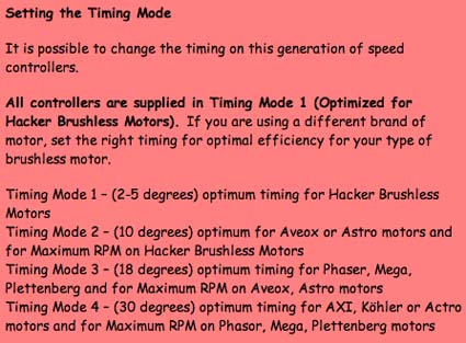 Info on Motor Timing